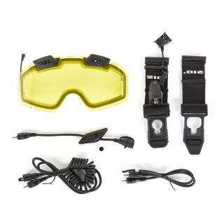CKX Electric 210 Degree Goggles Lens with Adjustable Ventilation & Accessories