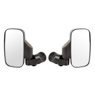 """Kimpex Rectangle Sideview Mirror with 2 brackets for 1.75"""" or 2"""" Roll Cage"""