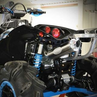 RJWC Single Offset Slip-On Exhaust for Gen 2 Can-Am Renegade