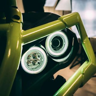 RJWC Neutrino 2 LED Lights with Halo for Can-Am Outlander Gen 2 (4 headlight models)